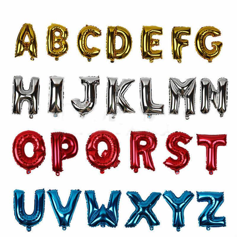 16 cal Rose złoty alfabet balony w kształcie liter nazwy balony cyfry folia balony w kształcie liter dekoracje ślubne list balon z helem