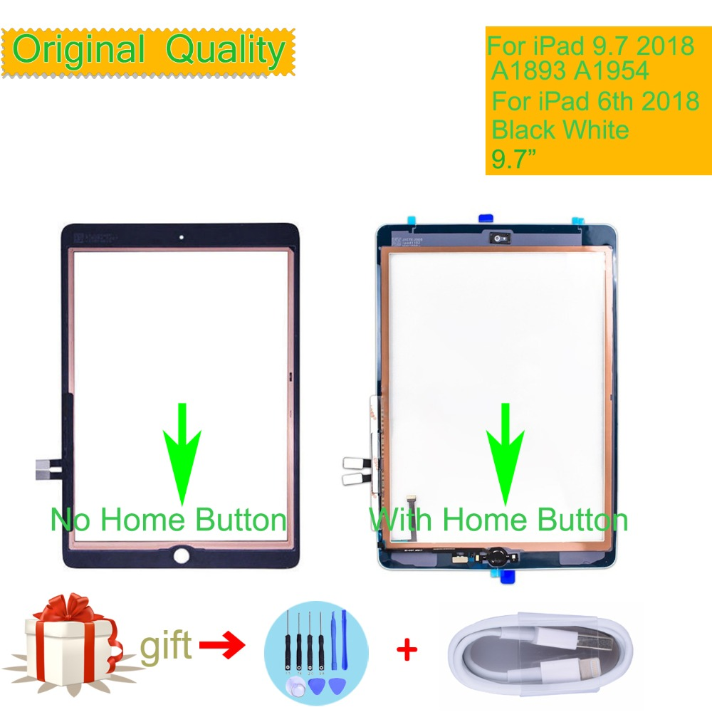 Original Touch Screen For iPad 9.7 2018 A1893 A1954 Digitizer Front Glass Panel For New iPad 2018 TouchScreen With Home Button Original Touch Screen For iPad 9.7 2018 A1893 A1954 Digitizer Front Glass Panel For New iPad 2018 TouchScreen With Home Button