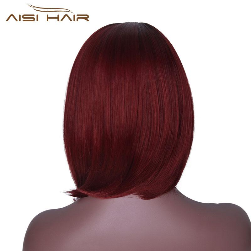 Είμαι μια περούκα Ombre κόκκινο Bob - Συνθετικά μαλλιά - Φωτογραφία 6