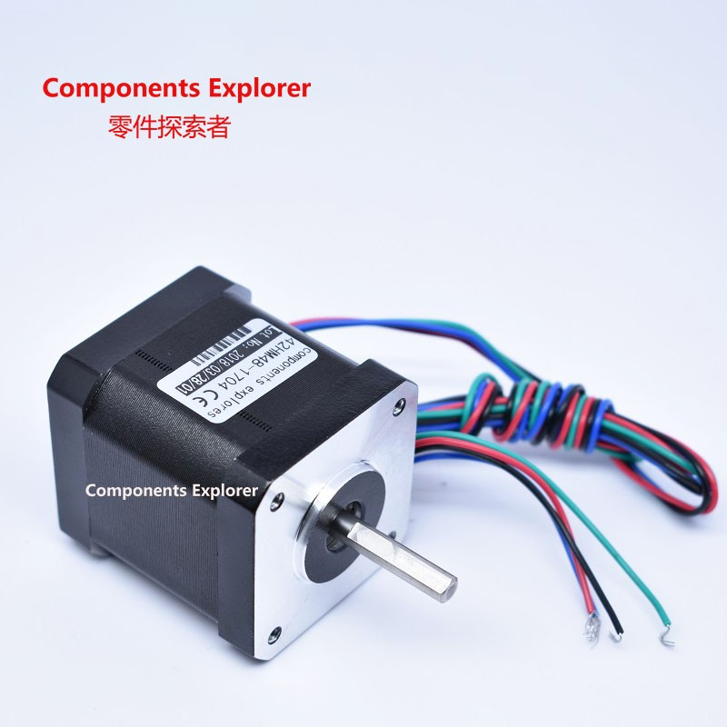 Stepper Motor,Nema17 High Torque Stepper Motor,48mm length,0.9degree step angle 42HM48-1704 0 9 step degree nema14 round stepper motor with 8 8n cm 12oz in length 20mm ce cnc step motor