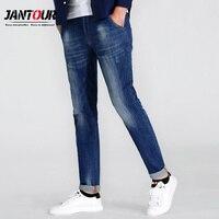 Jantour 2017 Luxury Men S Blue Jeans Men Cotton Skinny Slim Fashion Casual Stretch Robin Denim