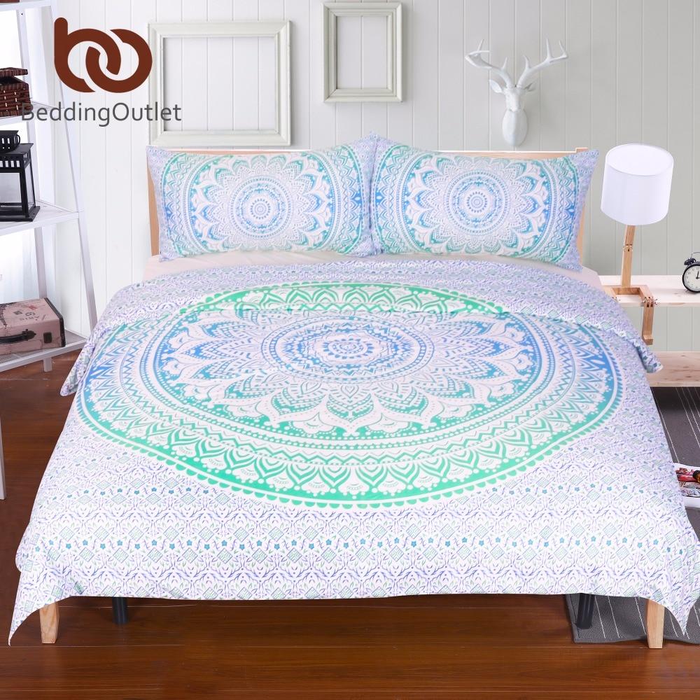 popular floral duvet coversbuy cheap floral duvet covers lots  - beddingoutlet blue and green mandala flower duvet cover set with pillowcasebohemia bedding set soft fresh