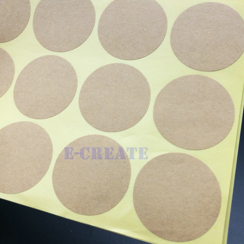 """Large Size Round Blank Kraft Paper Stickers-Seal Dot-300 Remarkable 3/"""" Diameter"""