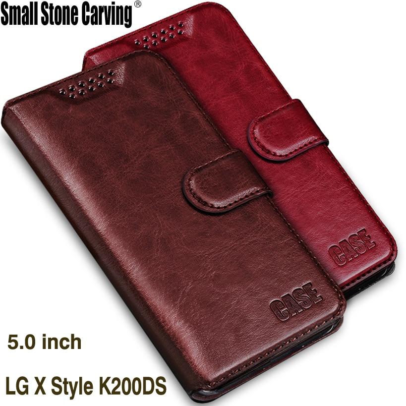 """Silikonová peněženka pro pouzdro LG K200DS stylu LG PU Luxusní pouzdro z PU kůže pro pouzdro LG K200DS Flip Cover Retro pouzdro pro telefon K200 5.0 """""""