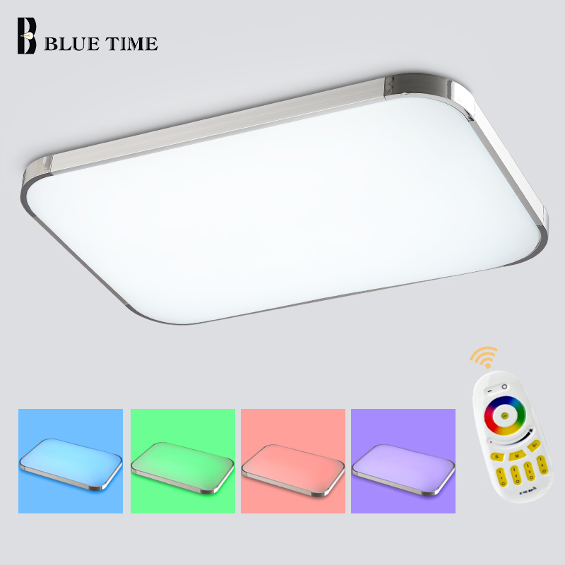 ФОТО Modern LED Ceiling Light With Multicolor Remote Controlled Dimmable Color Changing ceiling Lamp Livingroom Bedroom illumination