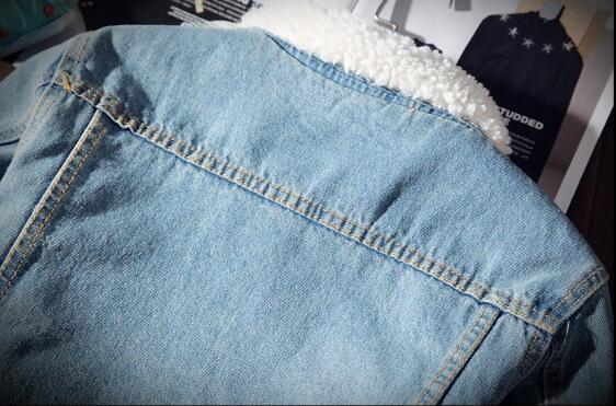 HTB1tW7HXdjvK1RjSspiq6AEqXXaU Men Jacket and Coat Trendy Warm Fleece Denim Jacket 2018 Winter Fashion Mens Jean Jacket Outwear Male Cowboy