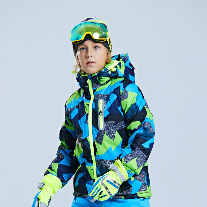 Children's Ski Jacket Thickened Boy's Outdoor Suit Warm and Cold-proof Ski Dress Girl's Mountaineering Dress Waterproof Winter