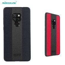 Huawei Mate 20 โทรศัพท์มือถือ 6.53 นิ้วกรณี NILLKIN Racer กรณี Tpu กันชน PC แผงฝาครอบหนัง PU สำหรับ Huawei Mate 20