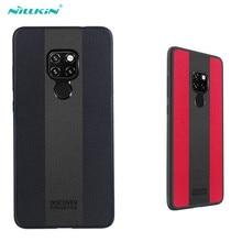 Huawei Mate 20 téléphone portable 6.53 pouces étui NILLKIN Racer étui TPU souple pare chocs et panneau PC luxe PU couverture en cuir pour Huawei Mate 20