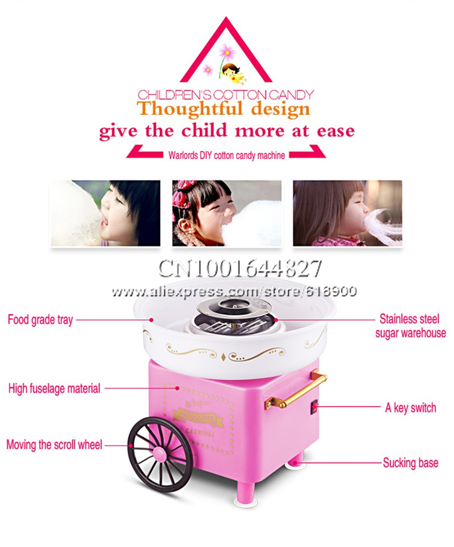 Household Mini Cotton Candy Machine Gift Cotton Candy Maker