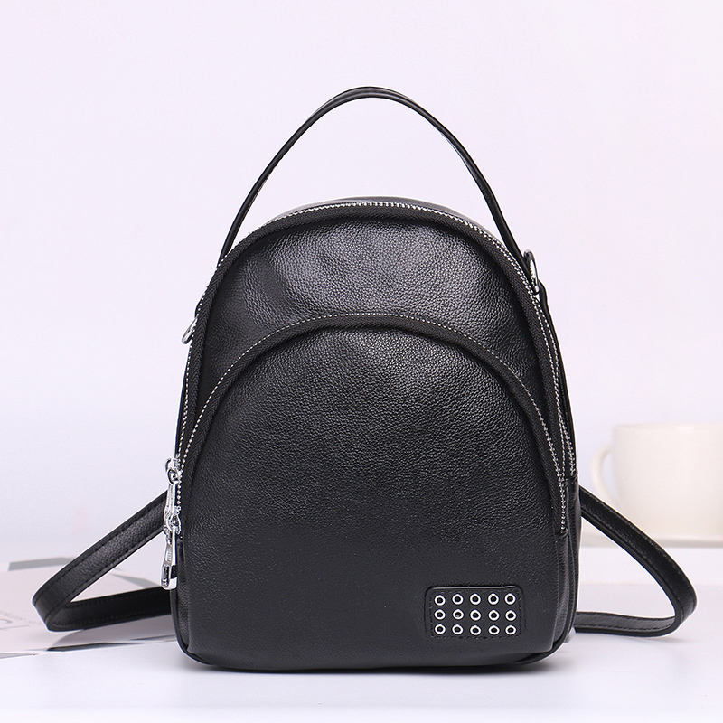 Women Genuine Leather Backpack Purse Satchel Shoulder School Bags for College Zipper Bags Casual Backpacks new design women backpack guarantee 100% genuine leather men backpacks casual shoulder bags school bags for women bolsas li 1387