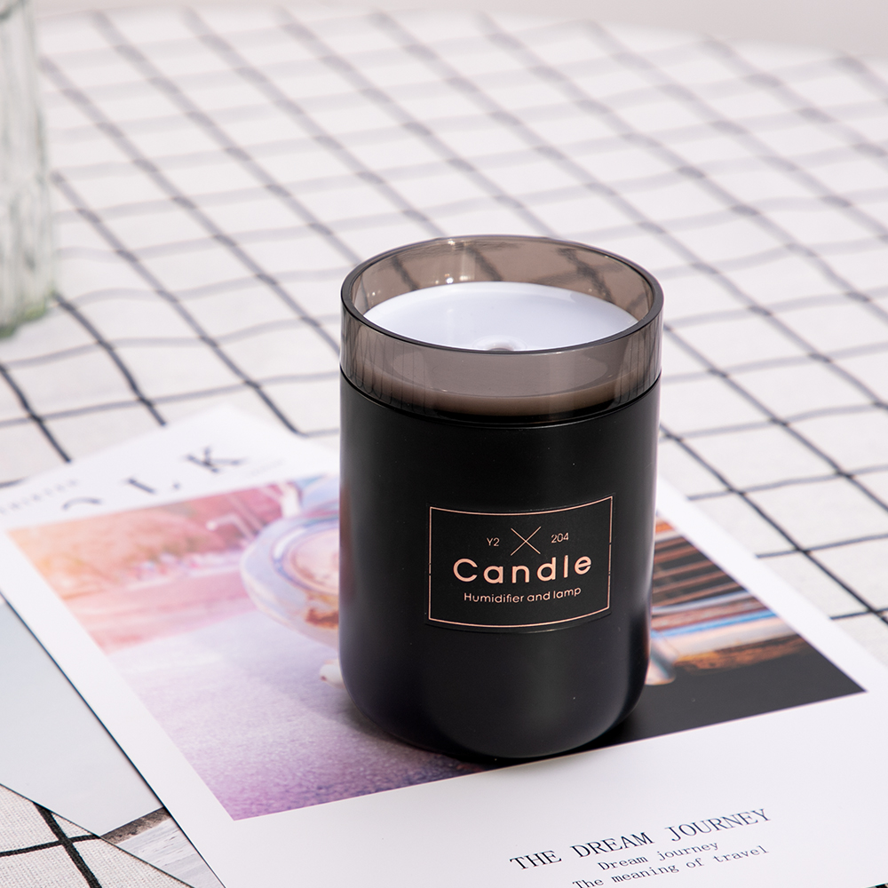 280ML Ultrasonic Air Humidifier Candle Romantic Soft Light USB Essential Oil Diffuser Car Purifier Aroma Anion Mist Maker(China)