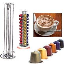 Edelstahl Metall 40 Capsule Kaffee Turm Stand Display Regallager NESPRESSO Kapsel Organizer Werkzeug
