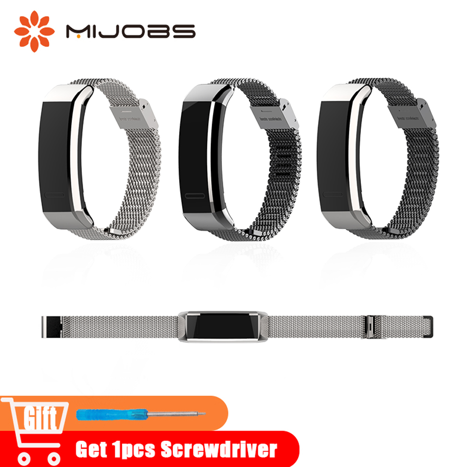 Mijobs Metal B19 B29 Strap for Huawei Band 2 Pro Sport Wristband Smart Accessories Bracelets for Huawei Band 2 Strap Smart Watch original huawei band 2 pro b29 b19 smart wristband for monitor fitness 50m swim waterproof bluetooth oled sport band