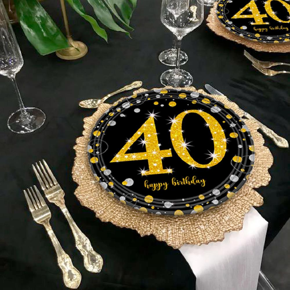 Black Gold Balloon Set Happy Birthday 40 Years Balloons 40 years Birthday Decoration Cheers to 40 Years Birthday Party Supplies in Ballons Accessories from Home Garden