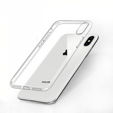 Ultra Thin 0.3MM TPU Case For iPhone X XR XS Max Clear Crystal Soft Silicone 7 8 6S Plus 5