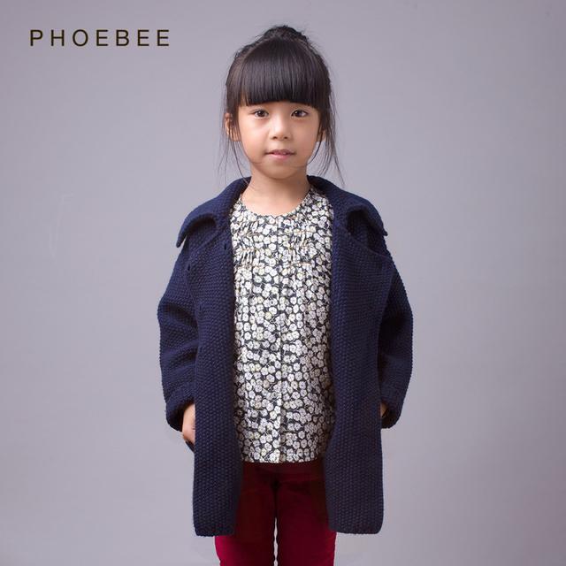 Suéter de la muchacha niños 2-8 años 100-140 cm niñas niños chaqueta de punto de lana suéteres de cuello alto rojo amarillo azul géneros de punto de punto de diseño