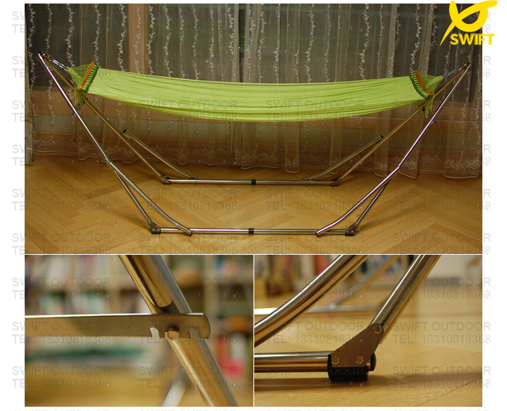 100 nylon net with stainless steel easy up folding hammock frame hammock stand nylon hammock