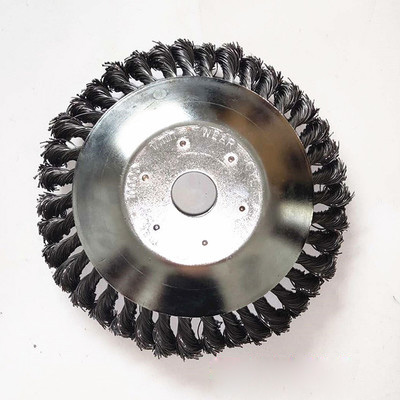 Landscaping Rotating Weed Brush Joint Knot Wire Wheel Brush Disc Electric Tool Machine Parts 8 Inch