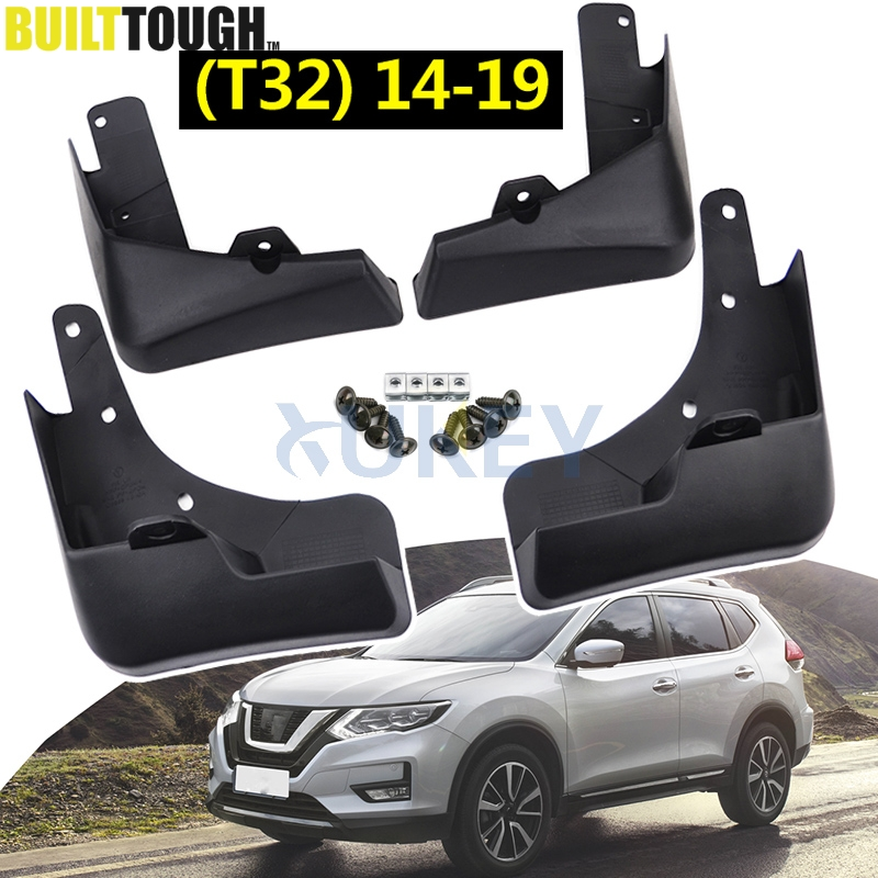 Set Molded Car Mud Flaps For Nissan X Trail Rouge T32 2014 2019 2016 2017 Xtrail Splash Guards Mud Flap Mudguards Fender Styling-in Mudguards from Automobiles & Motorcycles