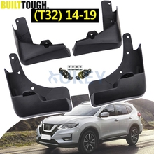 Set Molded Car Mud Flaps For Nissan X Trail Rouge T32 2014 2019 2016 2017 Xtrail Splash Guards Mud Flap Mudguards Fender Styling
