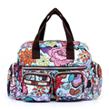 Women Handbag 2016 New Fashion Printing Waterproof Nylon Shoulder Messenger Bags Casual Women Bag