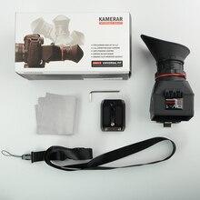 KAMERAR QV 1 Visor LCD buscador de vista para CANON 5D MarK III II 6D 7D 60D 70D,f Nikon D800 D800E D610 D600 D7200 D90 Genunie