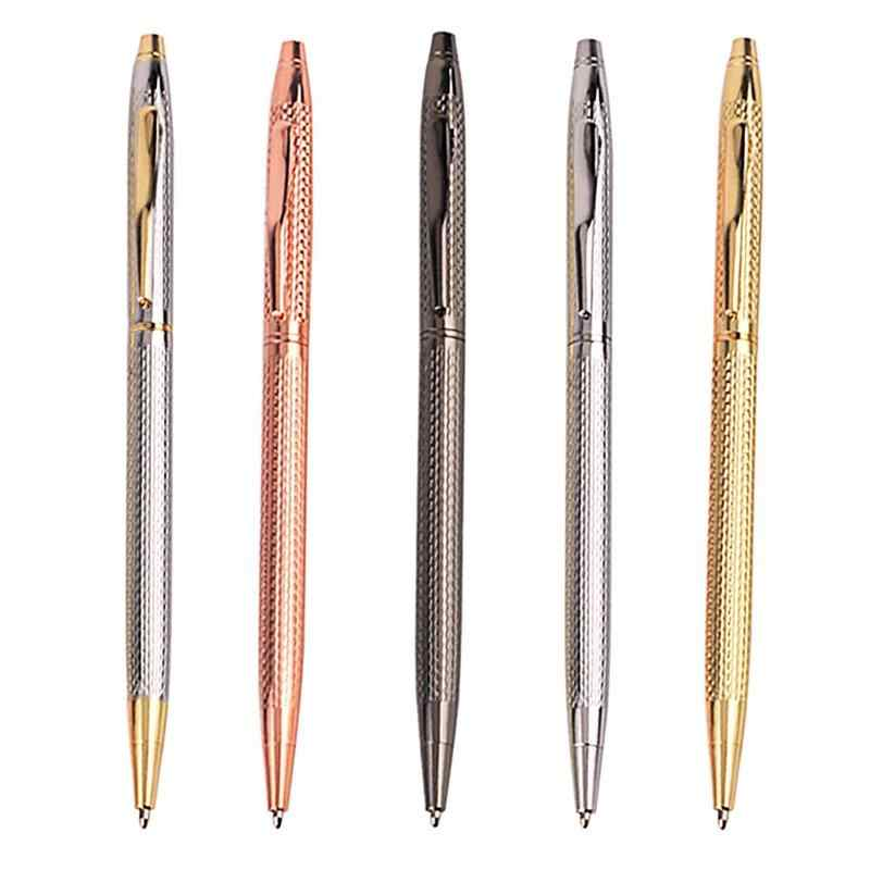 Drawing Slim Metal Ballpoint Pen Vintage Gold Silver Ball Pen For Business Writing Office School Supplies Stationery boligrafo