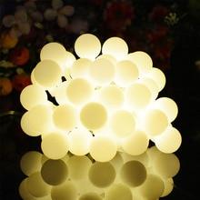 Solar Light String 30LED Small White String Lamp RGB light Outdoor Waterproof Christmas Day Lantern Decoration Light