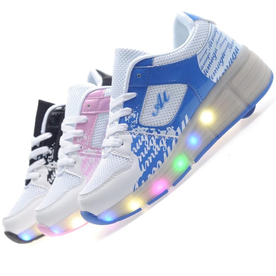 Heely skate shoes reviews - 2016 Child Jazzy Heelys Junior Girls Boys Led Light Heelys Children Roller Skate Shoes Kids Sneakers With Single Wheels