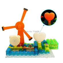 600 projects electronic building blocks magnetic windmill sound effect,kid's educational&learning DIY assembled bricks toys