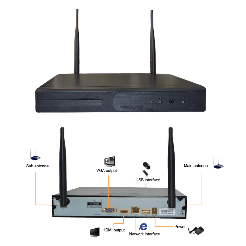 NOT SELL SEPARATELY! H.264 Wifi <font><b>NVR</b></font> 1080P <font><b>4CH</b></font> 8CH to Use with Wetrans Wireless Camera Replacement for Wireless <font><b>CCTV</b></font> System image