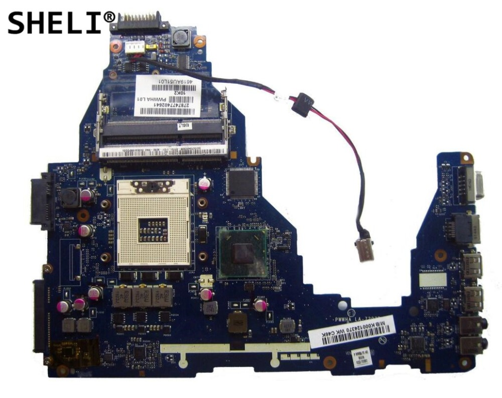 SHELI For TOSHIBA C660 C665 Motherboard K000124370 LA 7202P