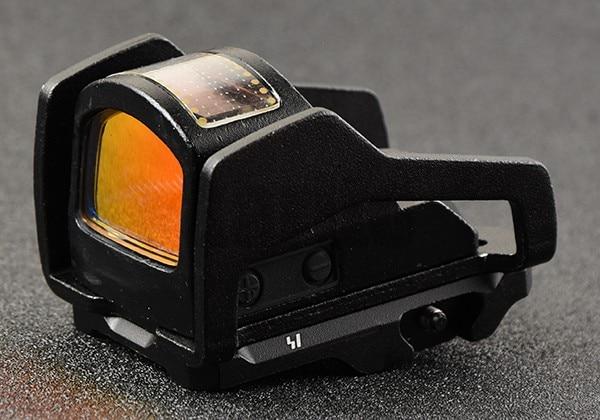 Tactique chasse tir micro 1x point rouge portée de vue avec picatinny rail support base 5 modèle adaptateur de vis kit BK