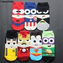 Hot Sale Summer Boat Socks Men Cute Socks Cartoon Kawayi Cotton Short Sock Colorful Breathable Cartoon