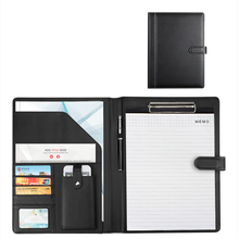 Portfolio Folder Executive Document Organizer Business Card Holder Letter Size Clipboard Writing Pad Office Conference Supplies a4 professional office business classical file folder portfolio executive with clip board calculator document organizer
