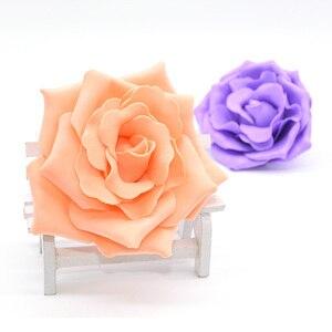 Image 1 - 10 個 10 センチメートル大泡バラ人工の花ウェディングパーティーの装飾diy花嫁のブーケスクラップブッキングクラフト偽花 8