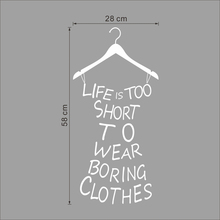 clothes tree wall stickers wardrobe decorations