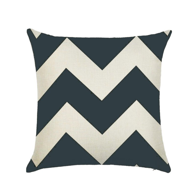 Linen Cotton Geometrisch Throw Pillow Cushion Home Sofa Decor 45X45cm