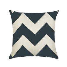 Linen Cotton Geometrisch Throw Pillow Cushion Home Sofa Decor 45X45cm