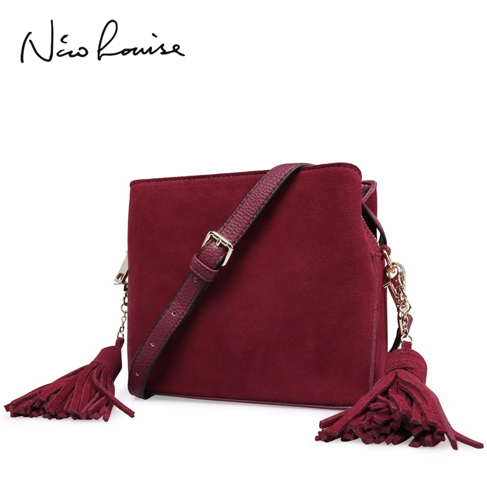 2018 Latest women Real Suede Leather Tassels Shoulder Bag Fashion Lady Small Crossbody Purse Female Flap Handbag For Grils Sac2018 Latest women Real Suede Leather Tassels Shoulder Bag Fashion Lady Small Crossbody Purse Female Flap Handbag For Grils Sac