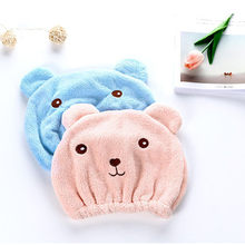 1Pcs Fashion Style super absorbent Lovely Hair Towel Turban Hair-Drying Cap Womens Girls Lady's Wrapped Drying Towel Bathing Cap(China)