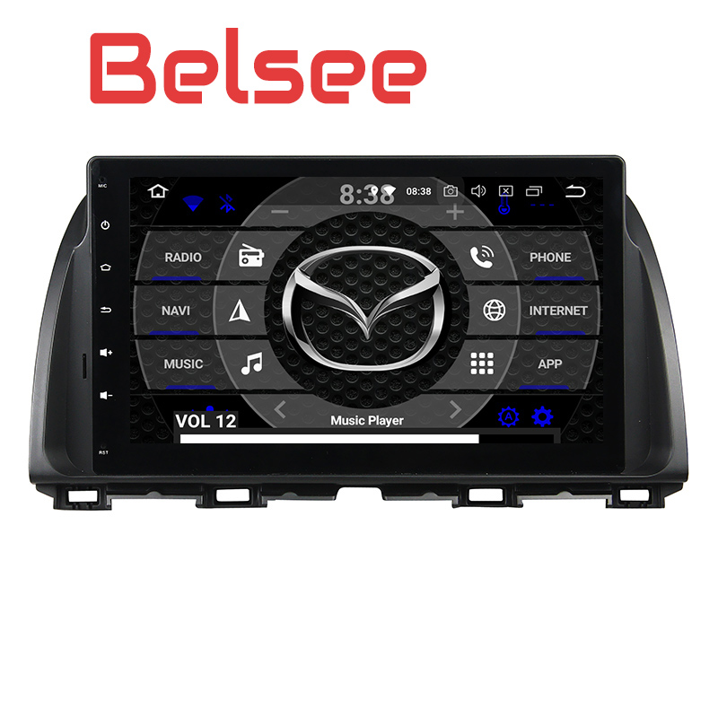 Belsee OEM Android 8.0 Head Unit Stereo Radio for Mazda CX 5 CX5 2013 2014 2015 10.1 inch 4GB Double 2 Din GPS Navigation Player