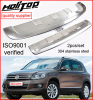 front&rear bumper protector skid plate for Volkswagen VW Tiguan 2012 2016 304 highest class stainless steel  ISO9001 quality|plate|plate stainless steel|plate bumper -