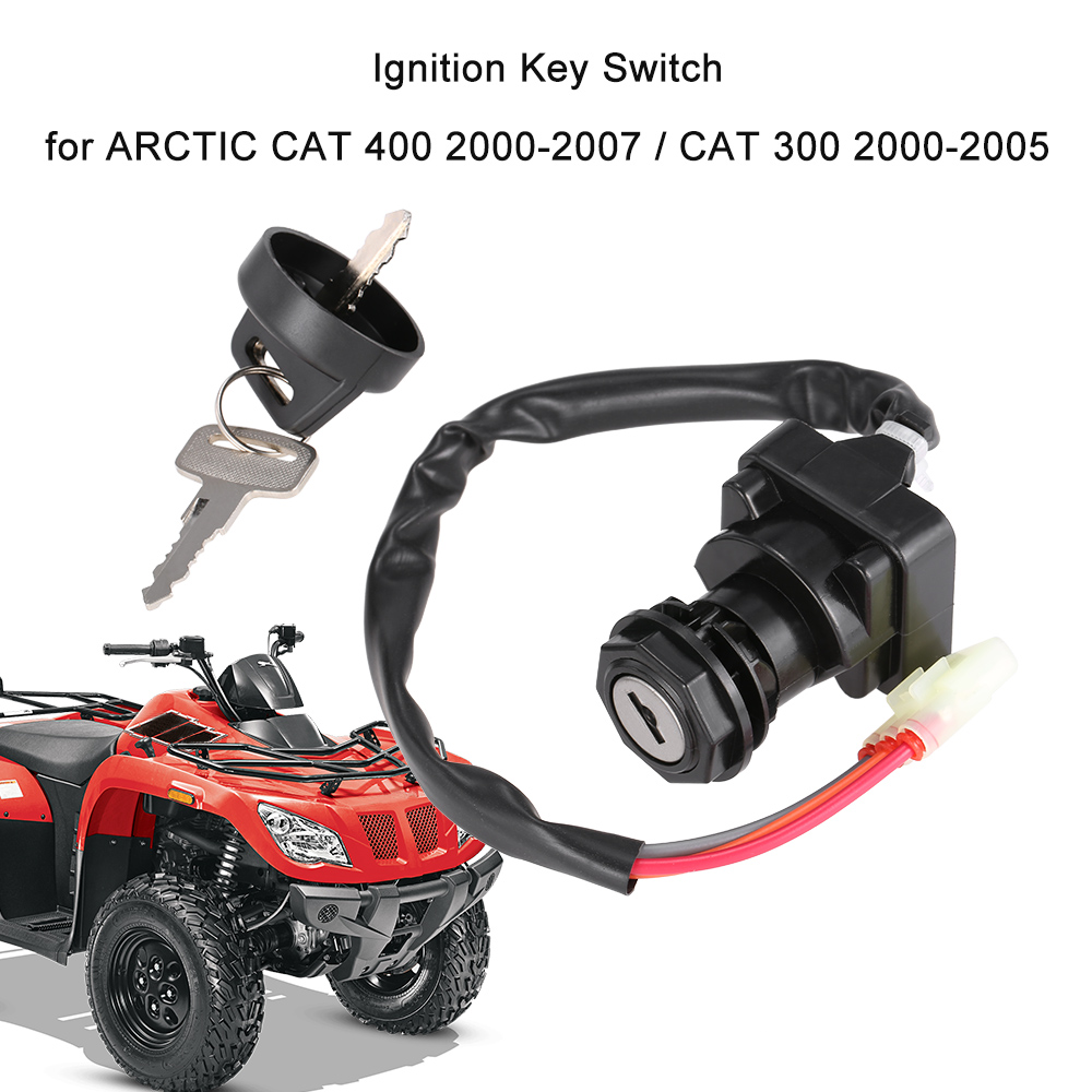 ignition key switch for arctic cat 400 2000 2007 cat 300. Black Bedroom Furniture Sets. Home Design Ideas