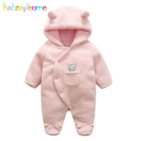 0 18Months Autumn Winter Unisex Baby Boys Girls Clothes Infant Rompers Warm Cartoon Cute Animal Jumpsuit