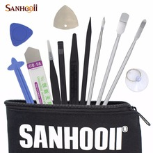 SANHOOII Universal 12in1 Mobile Phone Repair Tools Kit Spudger Pry Screen Opening Tool Teardown Hand