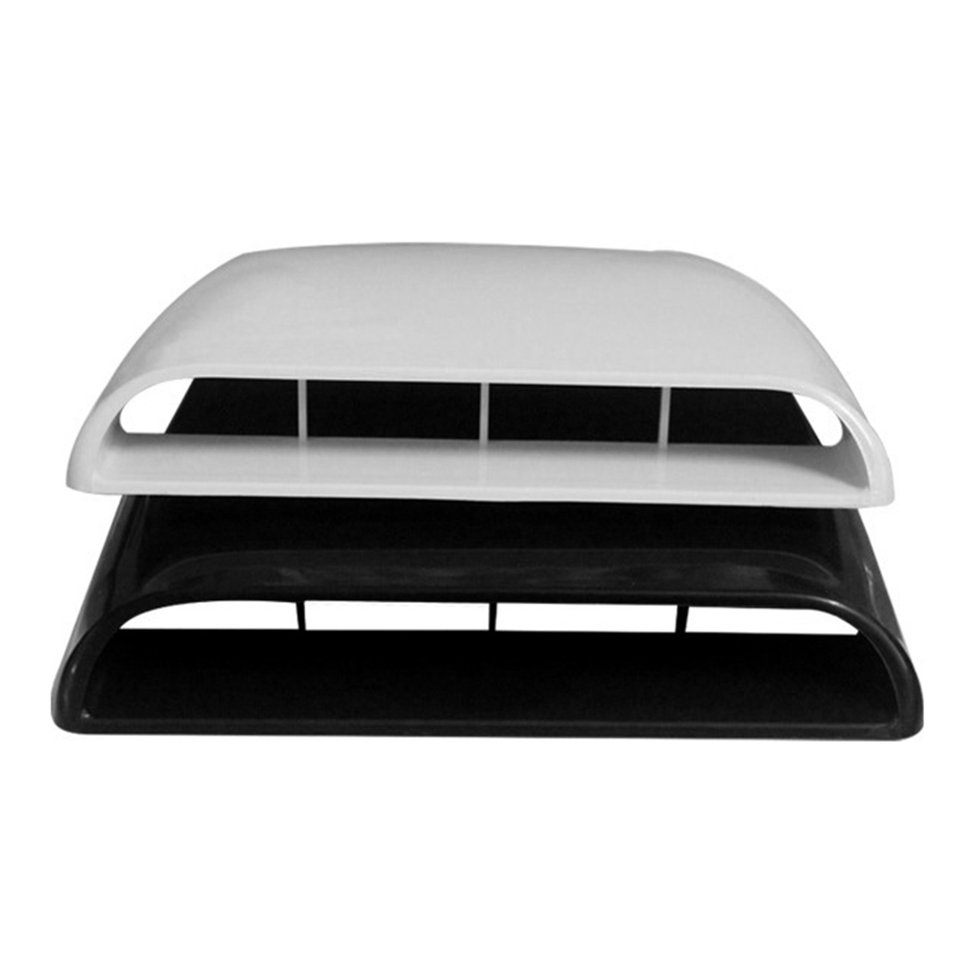 5pcs Car Auto Air Flow Intake Hood Scoop Bonnet Decorative Vent Cover Decal ob 515 universal air flow vent hood covers for car silver pair