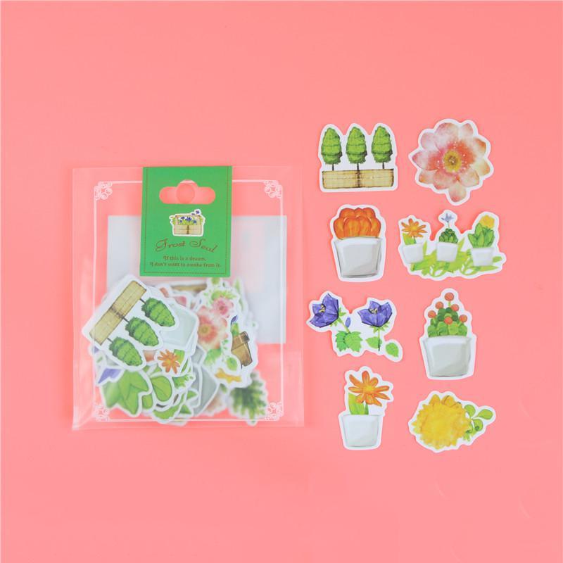 1 пакет, милые Мультяшные декоративные наклейки в Корейском стиле, клейкие наклейки, скрапбукинг, сделай сам, декоративные наклейки для дневника - Цвет: T