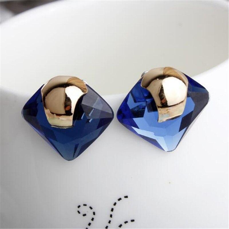 Высококачественные квадратные серьги-гвоздики с кристаллами, имитация жемчуга, Подвеска для женщин, высококачественные подарочные украше...